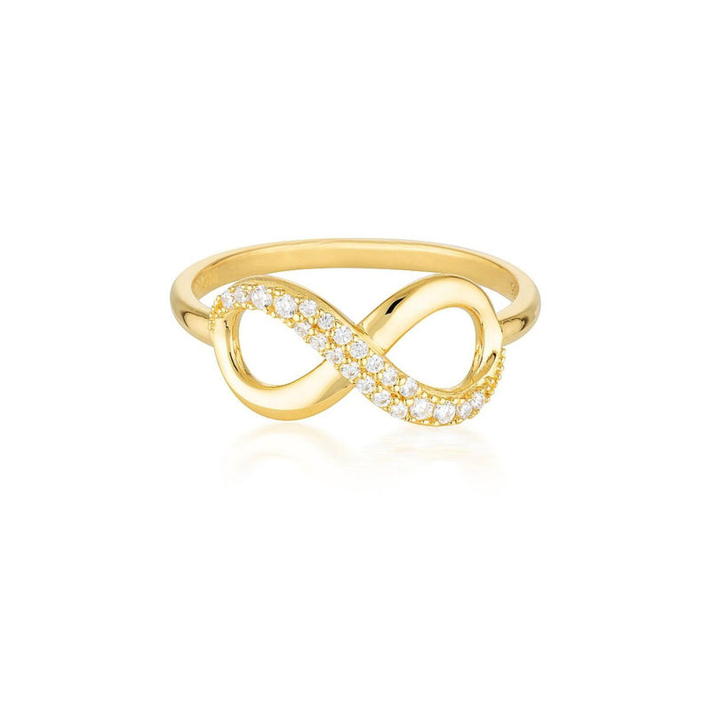Georgini - Forever 18ct Gold Plated Sterling Silver Cubic Zirconia Infinity Ring