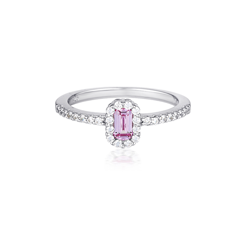 Georgini - White Ruby CZ Silver Ring