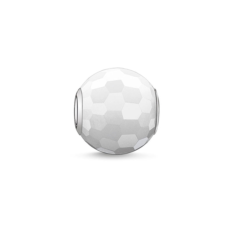 Faceted White Jade Thomas Sabo Karma Bead K0007-588-14