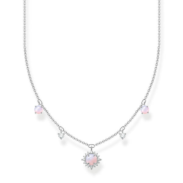 Thomas Sabo Necklace Pink Stone Silver