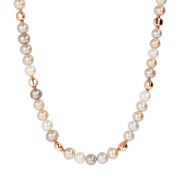Bronzallure Rosy Ming Pearl Necklace