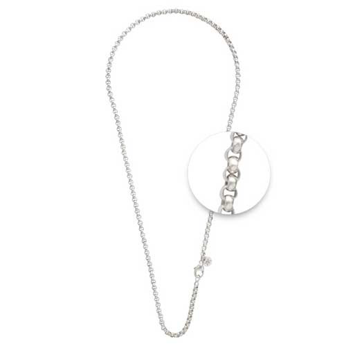 Nikki Lissoni - Silver Belcher Necklace
