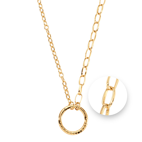 Nikki Lissoni - Gold Plated Cable Necklace