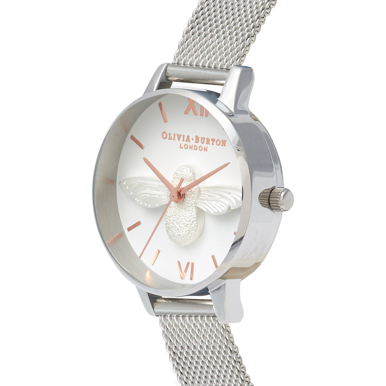 3D Bee Rose Gold & Silver Watch