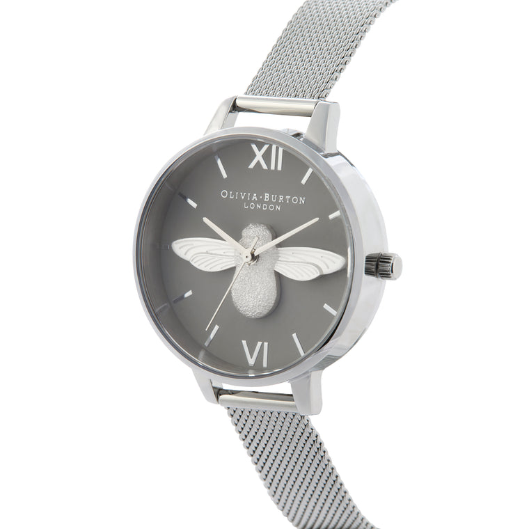 3D Bee Silver Watch