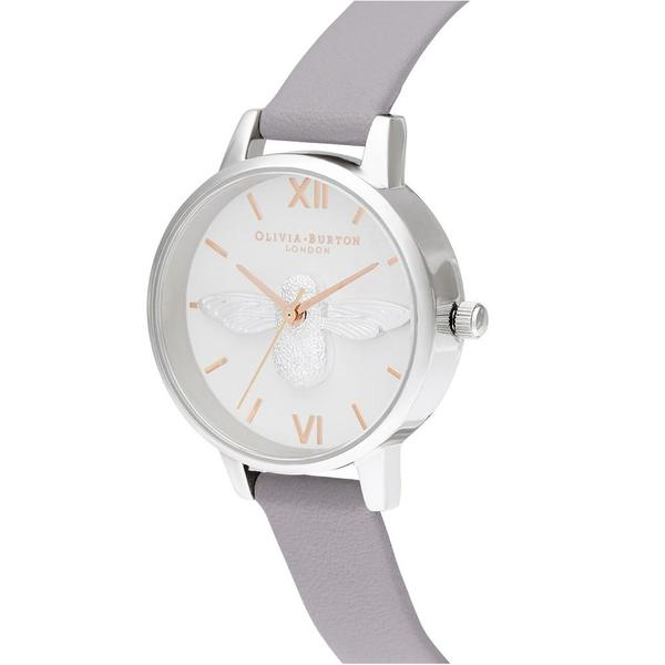 3D Bee Silver & Lilac Watch