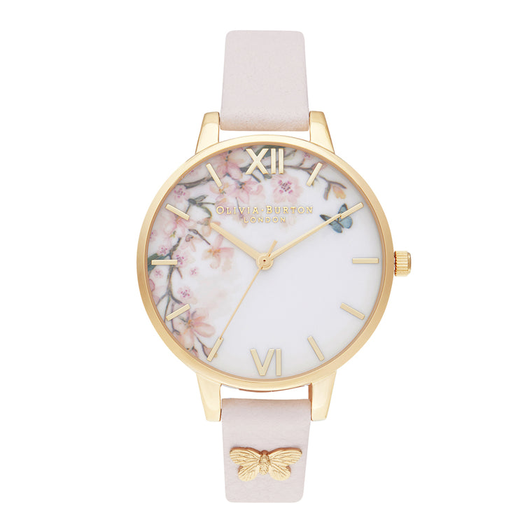 Pretty Blossom Pink & Gold Watch