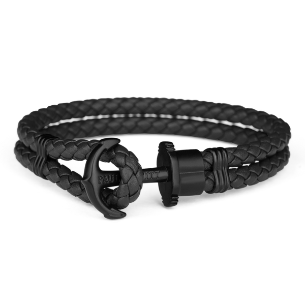 Paul Hewitt Phrep Leather Black / Black Bracelet