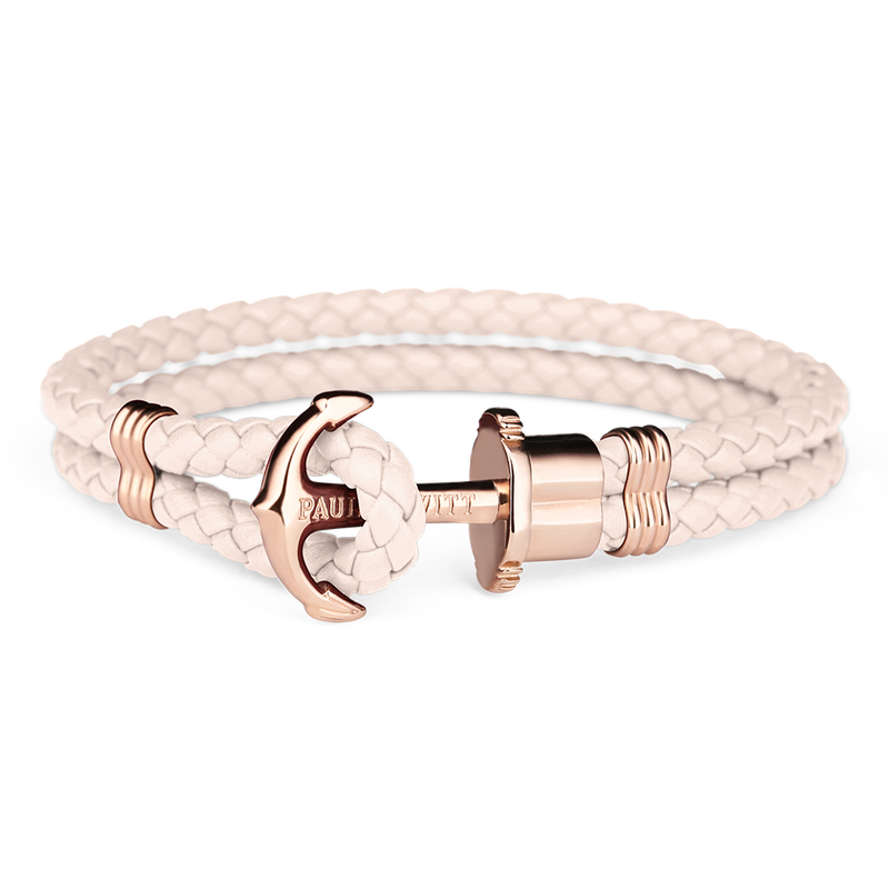 Paul Hewitt Phrep Leather Rose Gold / Pink Rose Bracelet