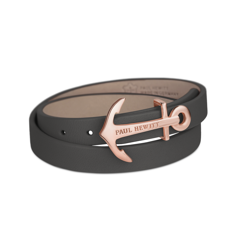 Paul Hewitt North Bound Rose Gold / Grey Bracelet - S