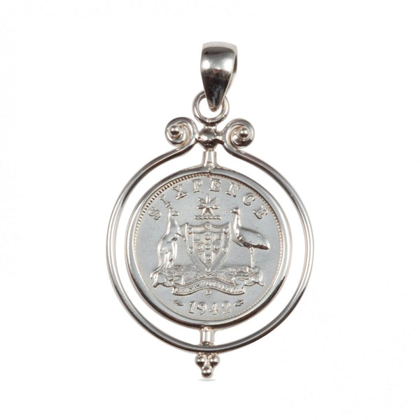 Mountain Creek Jewellery - Sixpence Pendant