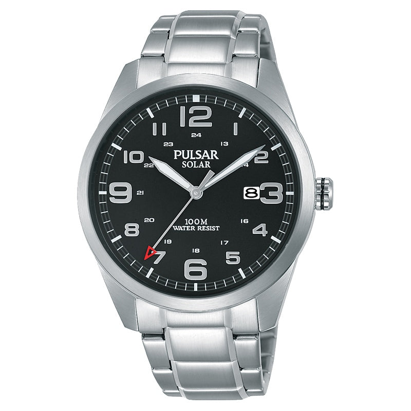 Pulsar - Gents Silver Solar Watch