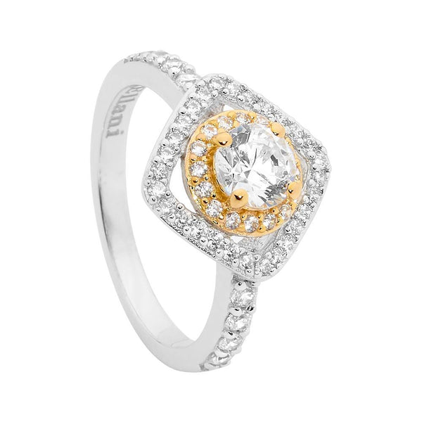 Gold Plated Sterling Silver Cubic Zirconia Ring