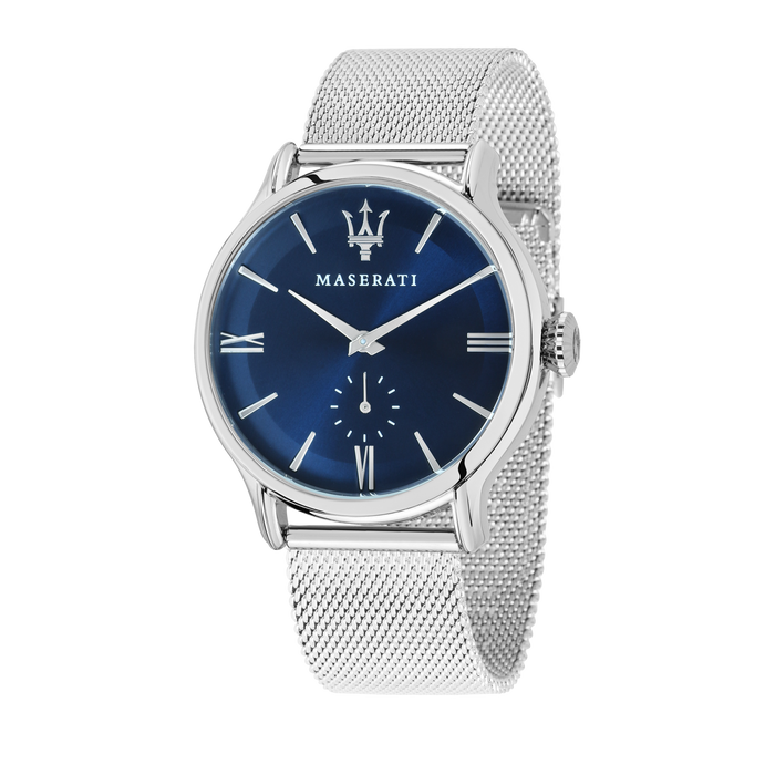 MASERATI - EPOCA 42mm Blue Dial Steel Mesh Watch