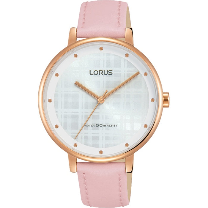 Ladies Rose Gold Leather Watch