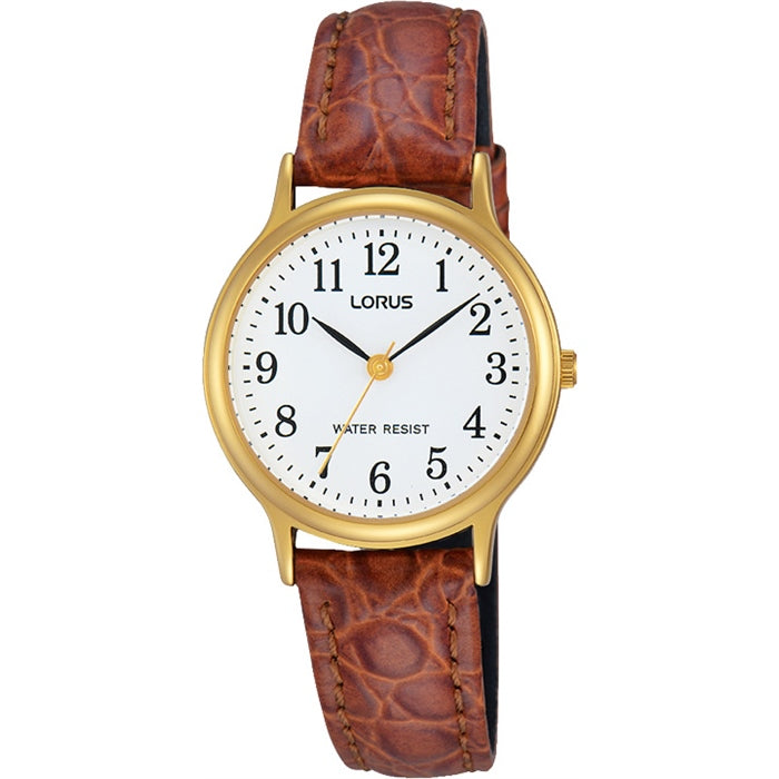 Lorus - Ladies Gold Leather Watch