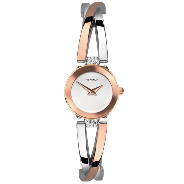 Sekonda Women's Two-Tone Semi-Bangle Dress Watch SK40037