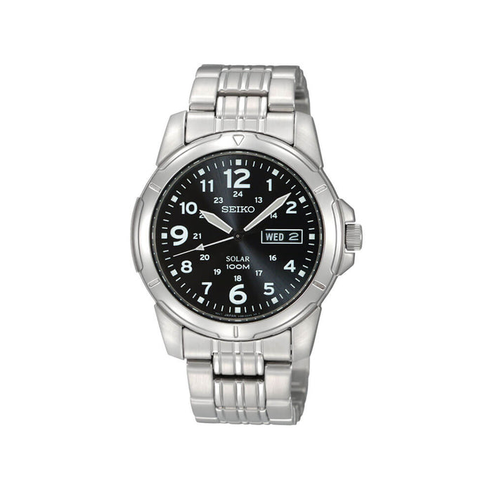 Seiko - Gents Silver Solar Watch