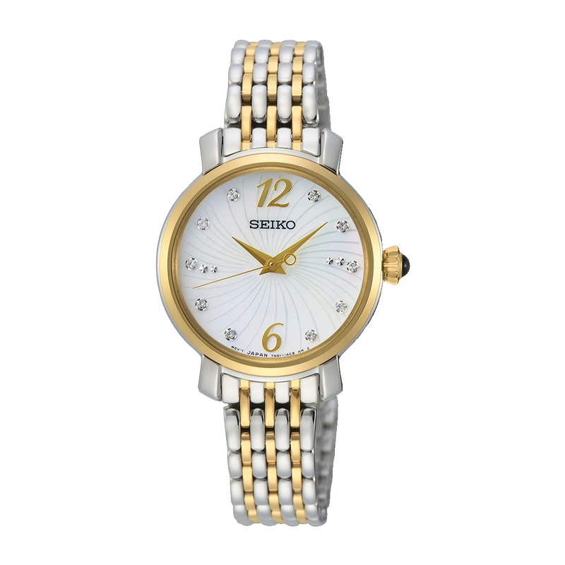 SEIKO - Ladies Two Tone Stone Set Watch