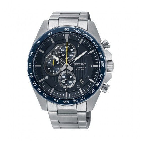 Seiko - Gents Silver Chronograph Watch
