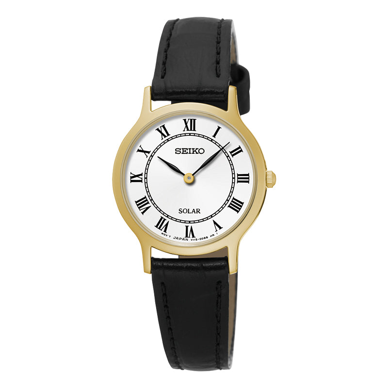 Seiko - Ladies Solar Leather Watch