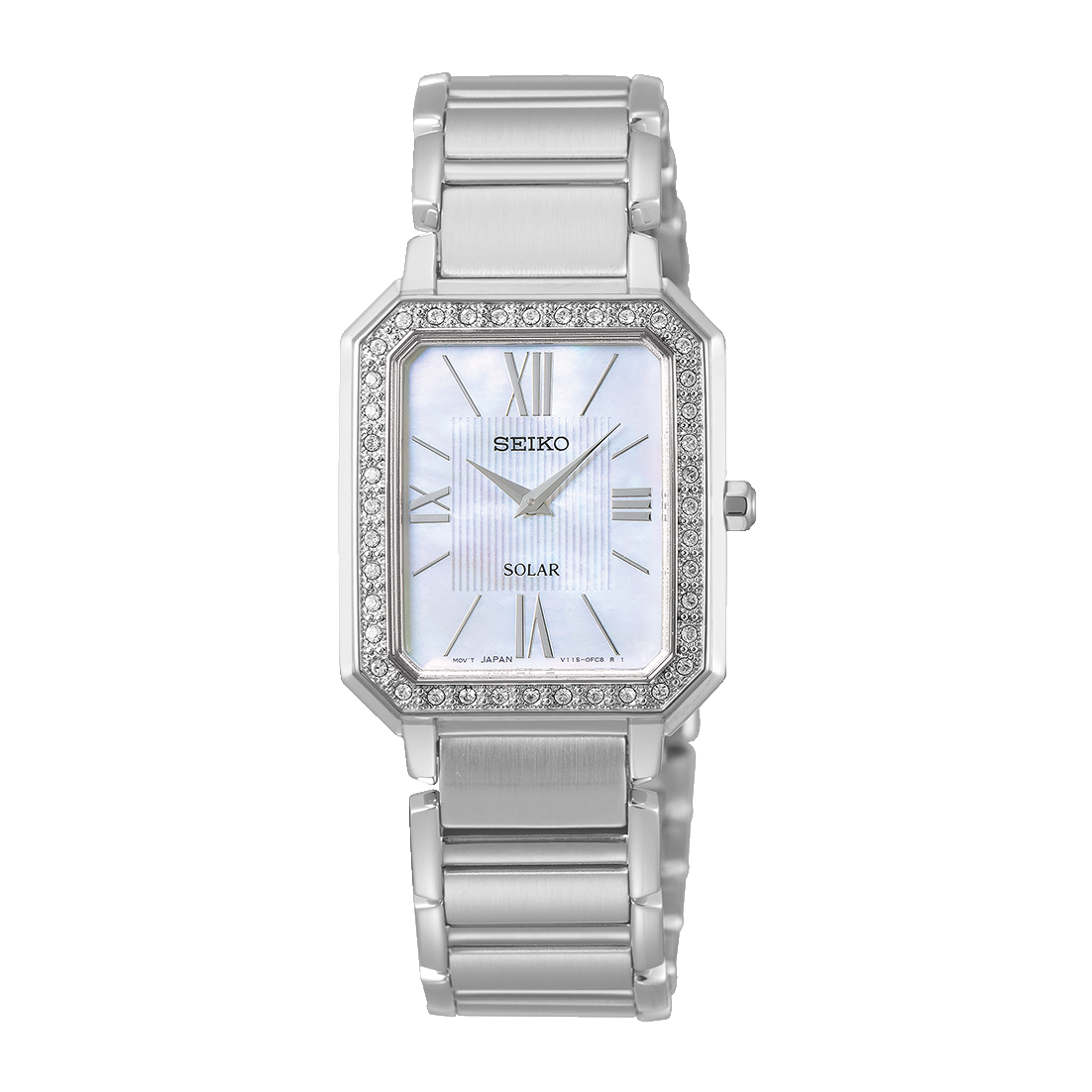 Ladies Stone Set Mother of Pearl Watch