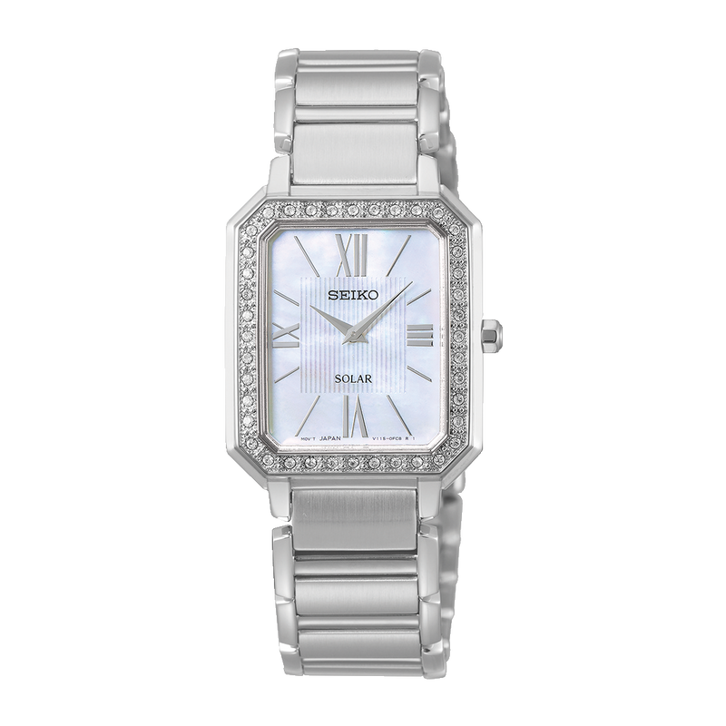 SEIKO - Ladies Stone Set Mother of Pearl Watch