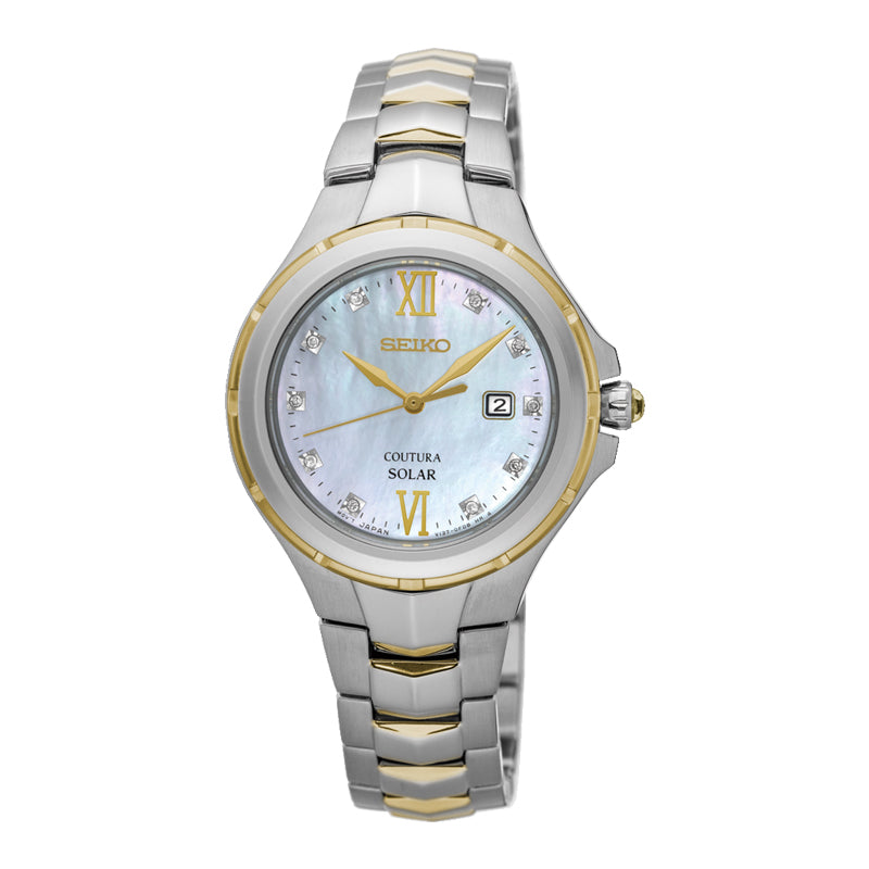 Seiko - Ladies Coutura Diamond Set Solar Watch