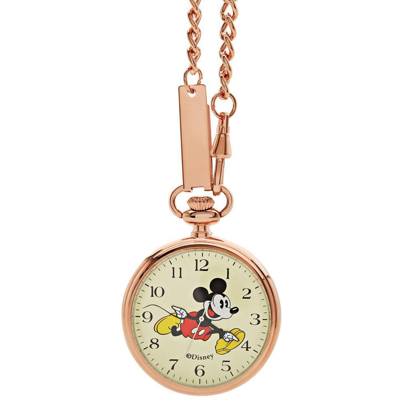 Disney Mickey Rose Gold Pocket Watch