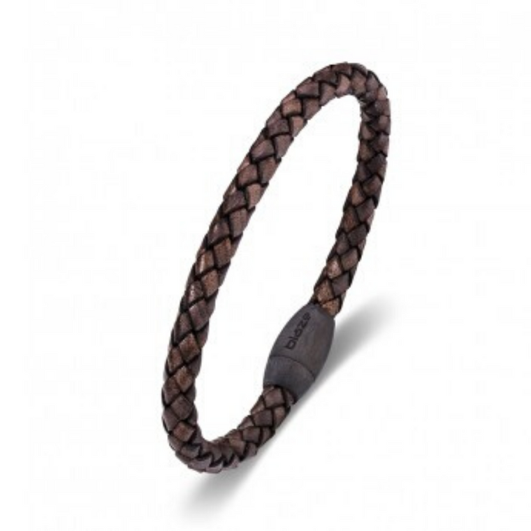 Blaze - Leather Woven Bangle