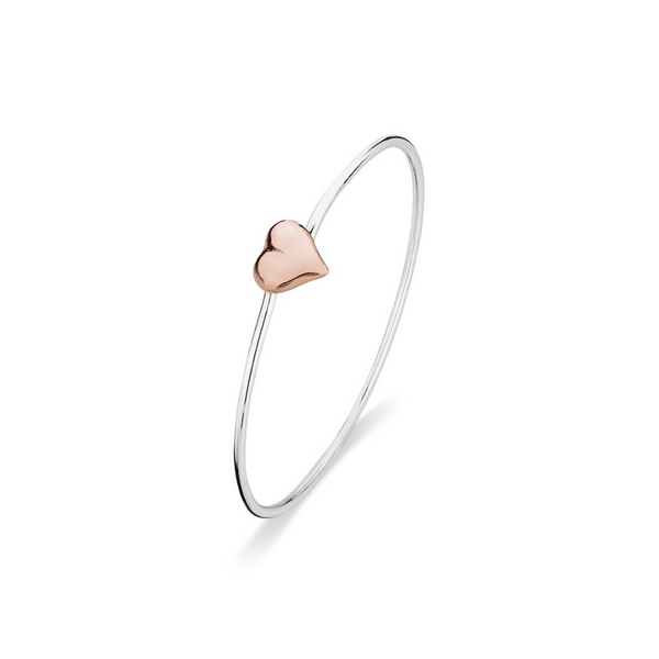 Sterling Silver & Rose Gold Plated Bangle