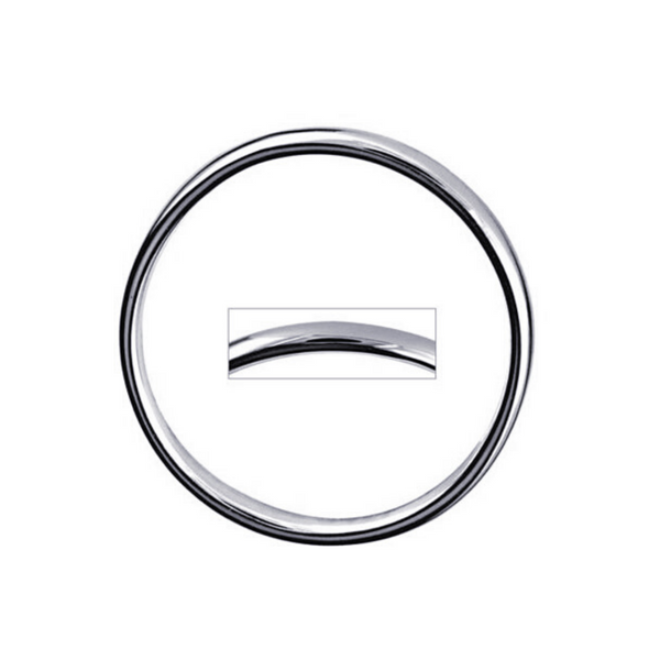 Plain Hollow Sterling Silver Round Bangle