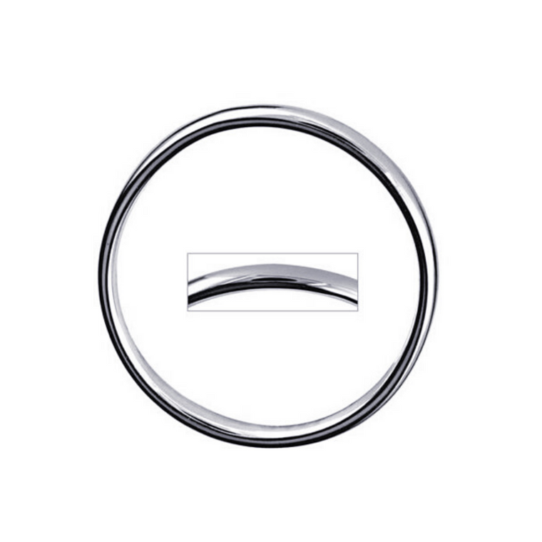 Plain Hollow Silver Round Bangle