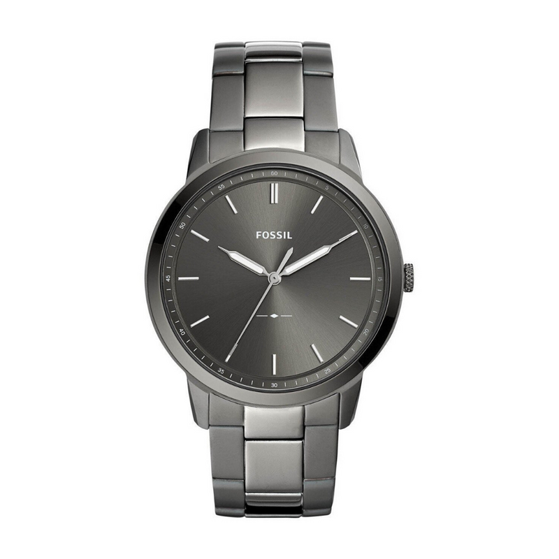 Fossil - The Minimalist Three-Hand Smoke Stainless Steel Watch