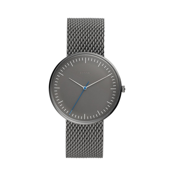 Fossil - Essentialist Three-Hand Grey Stainless Steel Watch
