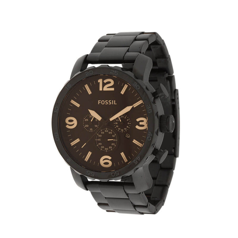Fossil - Nate Chronograph Black Stainless Steel Watch