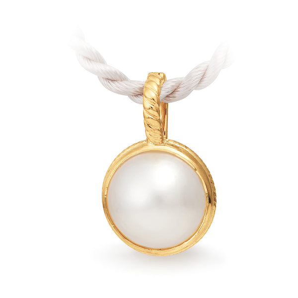 9ct Yellow Gold Mabe Pearl Pendant