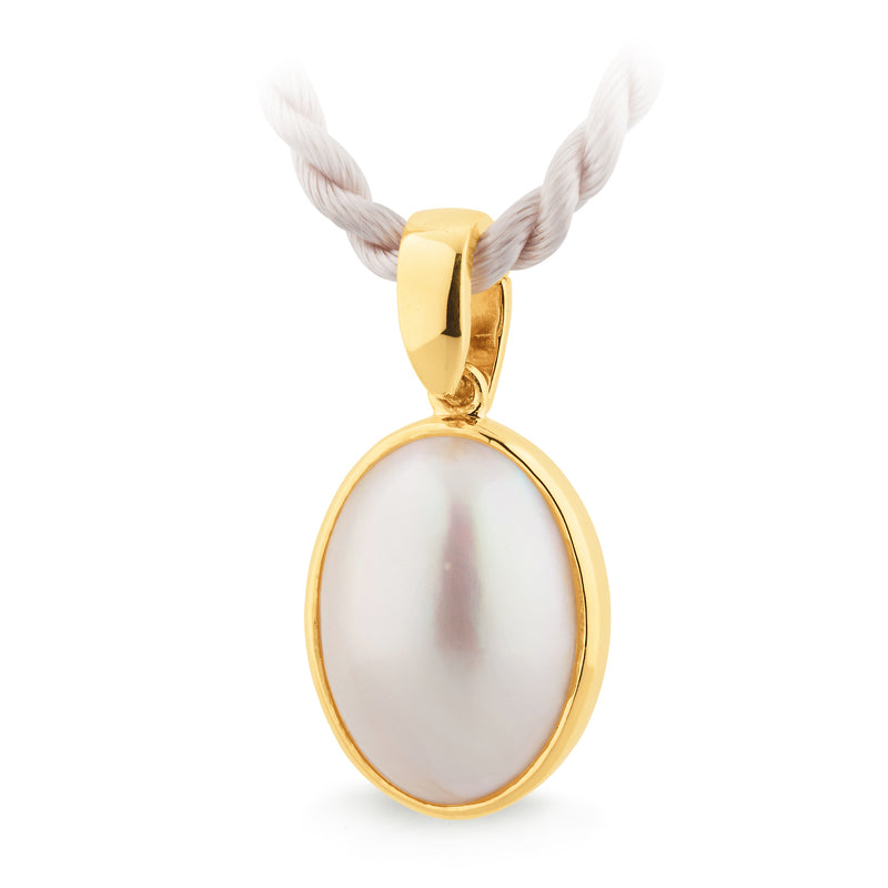 9ct Yellow Gold Mabe Pearl Enhancer
