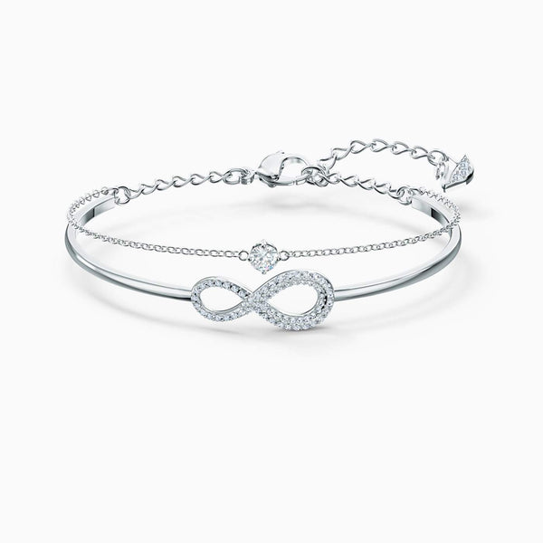 SWAROVSKI Swarovski Infinity Bangle -  White
