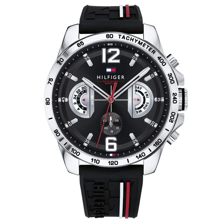 Gents Multifunction Black Sports Watch