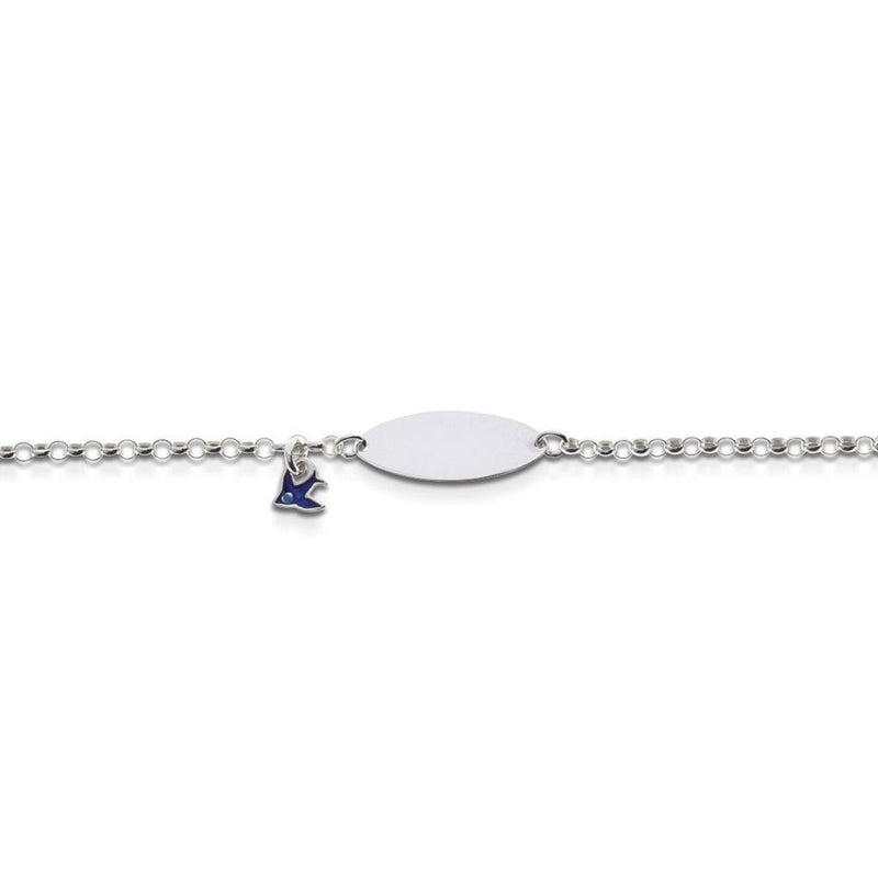 Sterling Silver Blue Bird Bracelet