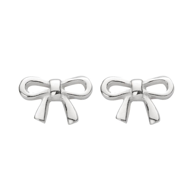 Sterling Silver Tiny Bow Studs