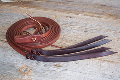 "SPR58P 5/8"" Split Reins With Poppers"