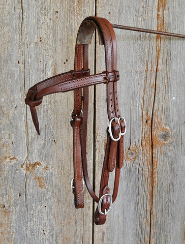 HS2034X Knotted Brow Double Buckle