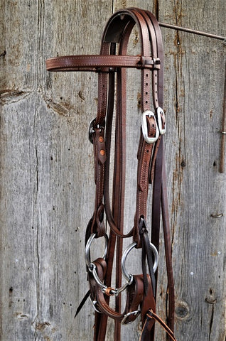 FR202 Bridle with Dogbone Snaffle