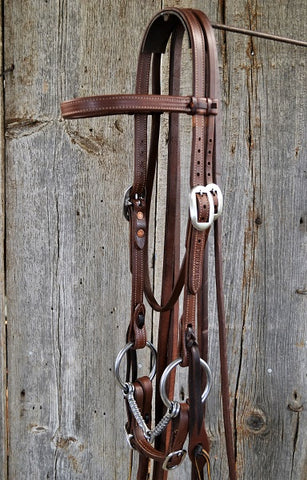 FR203 Bridle with Rebar Snaffle