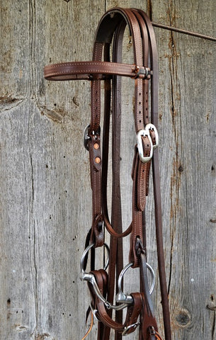 FR208 Bridle with Smooth Snaffle