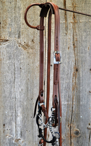 FR107 Bridle with Blued Chain Bit