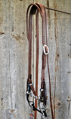 FR108 Bridle with Blued Ported Chain