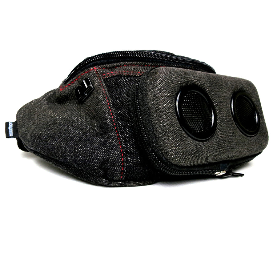 Black Denim Bluetooth Fanny Pack